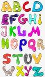 Shiny, color, creative font. Vector, glossy, bright Stock Image