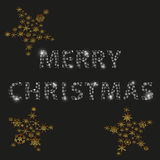 Shiny color stars and merry christmas from little snowflakes winter or christmas theme decoration eps10 Royalty Free Stock Photo