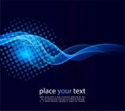 Shiny color waves over dark backgrounds stock illustration