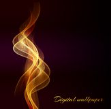 Shiny color waves over dark  backgrounds Royalty Free Stock Image