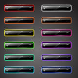 Shiny colored buttons Royalty Free Stock Photo