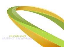 Shiny colored curved on a white stock images