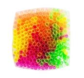 Shiny colored drinking straws Stock Photo
