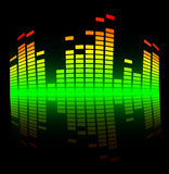 Shiny colored equalizer Stock Photography