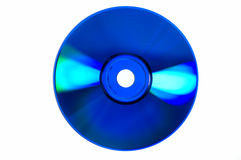Shiny colored glares on blue CD/DVD Royalty Free Stock Photography