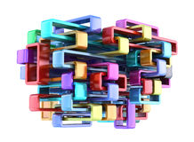 Shiny colorful abstract construction Royalty Free Stock Photography