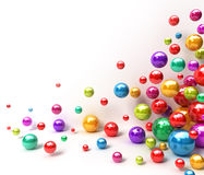 Shiny colorful balls. Abstract background. 3D render Royalty Free Stock Photos