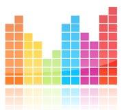 Shiny Colorful Equalizer Royalty Free Stock Photos