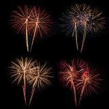 Shiny colorful fireworks. Stock Images