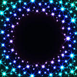 Shiny Colorful Frame with Stars Royalty Free Stock Photos
