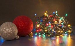 Shiny and colorful led lights. Colorful and shiny Christmas led lights Stock Photo
