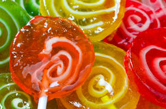 Shiny colorful lollipops Stock Image