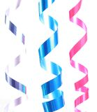 Shiny colorful satin ribbons Royalty Free Stock Image