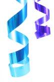 Shiny colorful satin ribbons Royalty Free Stock Photos