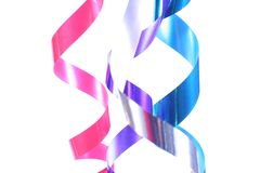 Shiny colorful satin ribbons Stock Image