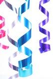 Shiny colorful satin ribbons Stock Photo