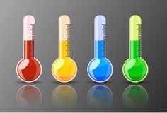 Shiny Colorful Thermometer Stock Image