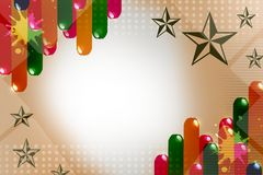 Shiny colorful thick lines with star, abstract background Royalty Free Stock Photo