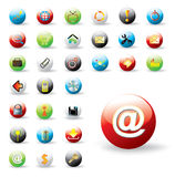 Shiny colorful web buttons Stock Images