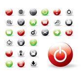 Shiny colorful web buttons. Collection of shiny web buttons - all in separate vector layers royalty free illustration