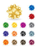 Shiny colourful bows Stock Photos