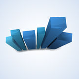 Shiny column blue graph Royalty Free Stock Photos
