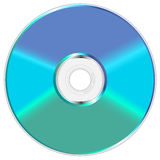 Shiny compact disc. Blue and green shiny compact disc  illustration Stock Photos