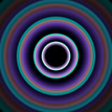 Shiny concentric circles Stock Photography