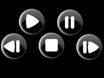 Shiny Controll Buttons. Futuristic shiny looking controll buttons for any application Stock Image