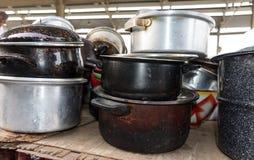 Shiny Copper Coffee Pots royalty free stock photo