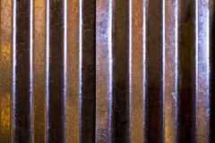 Shiny Corrugated Metal Texture Stock Photography