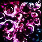Shiny cosmic curls background Royalty Free Stock Photos