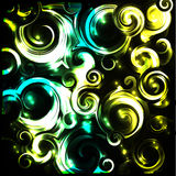 Shiny cosmic curls background Royalty Free Stock Images