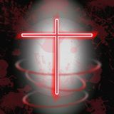 Shiny cross symbol Royalty Free Stock Images