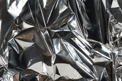 Shiny crumpled foil paper Royalty Free Stock Images