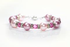 Shiny crystal bracelet . Stock Photo