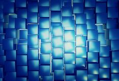 Shiny cube pattern abstract background. 3d render of shiny cube for abstract background Stock Images