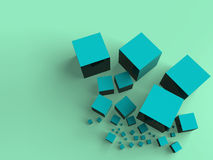 Shiny cubes. Abstract background made with some shiny cubes Stock Photography