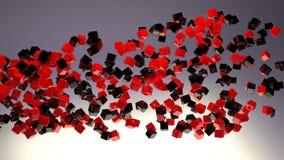 Shiny cubes flow background Stock Photo