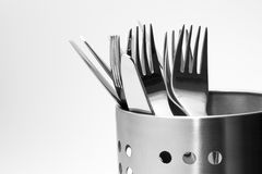 Shiny Cutlery Royalty Free Stock Photo