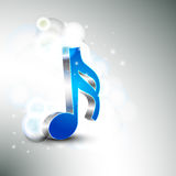 Shiny 3d musical notes. Royalty Free Stock Photography
