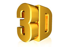 Shiny 3D word Royalty Free Stock Images
