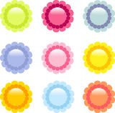 Shiny daisy icons Royalty Free Stock Photo