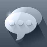 Shiny dark grey 3d chat bubble symbols. RGB EPS 10 vector illustration Royalty Free Illustration
