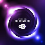 Shiny Dark Round Background Violet Blue. Vector Stock Photography