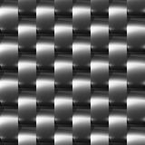 Shiny dark steel (chrome, silver) seamless pattern Stock Photos