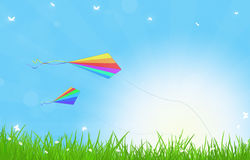 Summer Kites Stock Photo