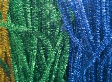 Shiny decorations in different colors for needlework. royalty free stock photos