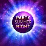 Shiny decorative disco ball with headline on Royalty Free Stock Photography