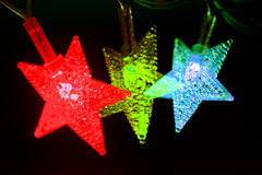 Shiny decorative stars Royalty Free Stock Photo